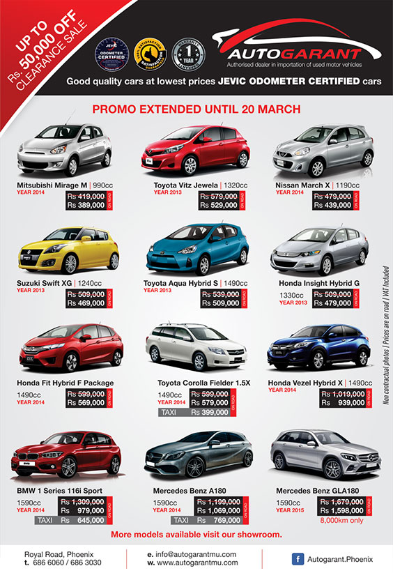 Autogarant-Clearance Sales