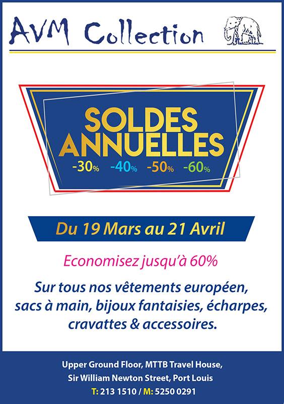 AVM Collection - Soldes Annuelles du 19 Mars au 21 Avril