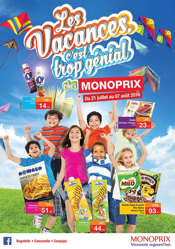 Jusqu'au dimanche 7 août, c'est les PROMOS Grandes Vacances chez MONOPRIX!
