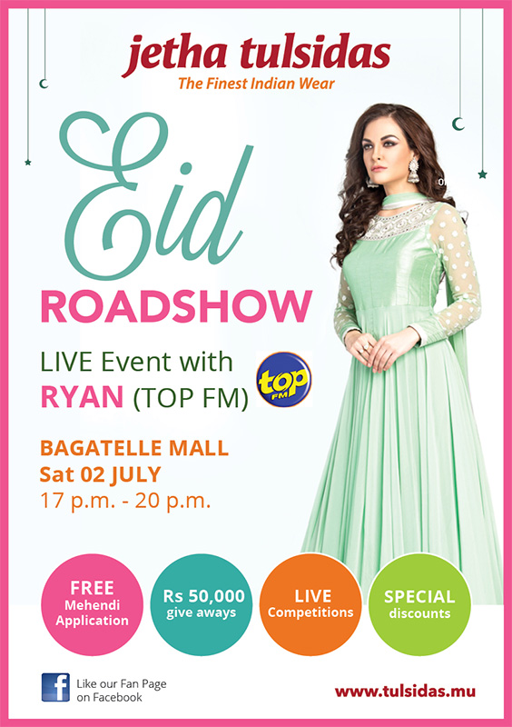 Jetha Tulsidas EID Roadshow Bagatelle Mall of Mauritius