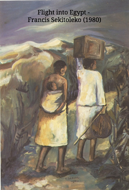 Flight into Egypt- Uganda, by Francis Sekitoleko (1980)
