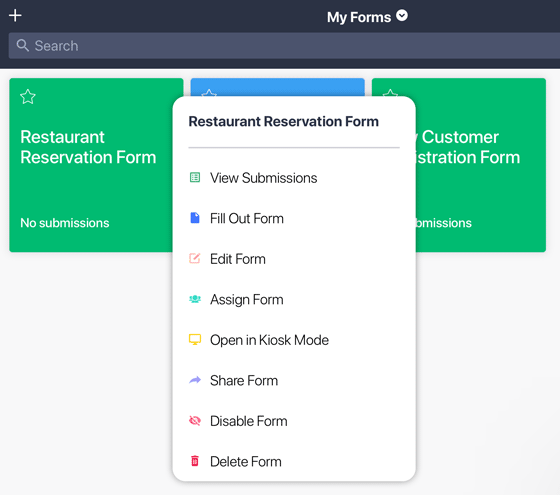 Options for customizing a form on JotForm Mobile Forms