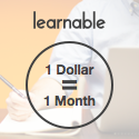 Your first month of Learnable for just $1!
