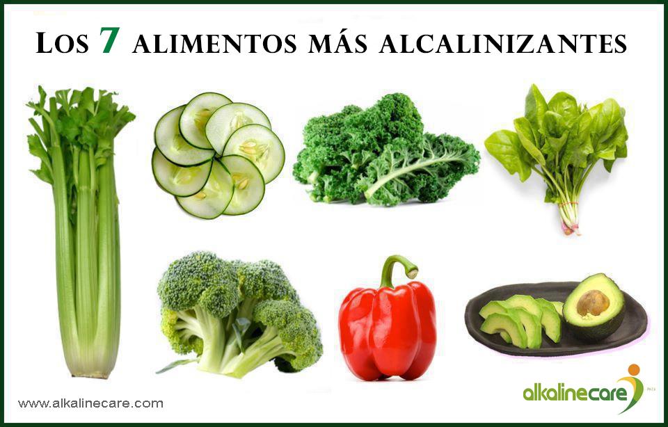 7 Alimentos Más Alcalinizantes