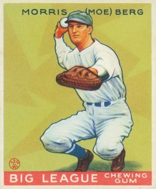 Moe Berg Baseball Card 1933 Goudy
