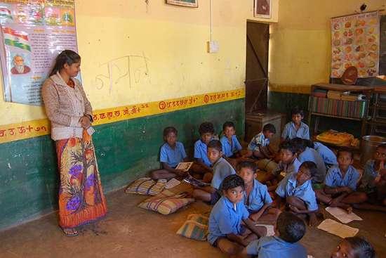 Dhurwa children at a government school in Permaras