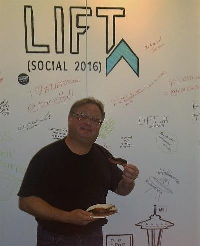 Harry at LIFT Social Conference - Having fun!