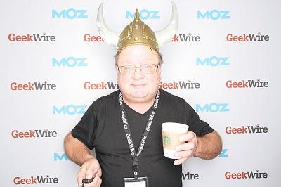Harry Brelsford having fun at GeekWire!