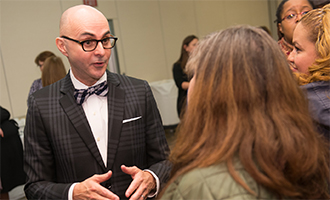 Ramon Torrecilha meets with WSU faculty and staff during a visit to campus December 2nd, 2015