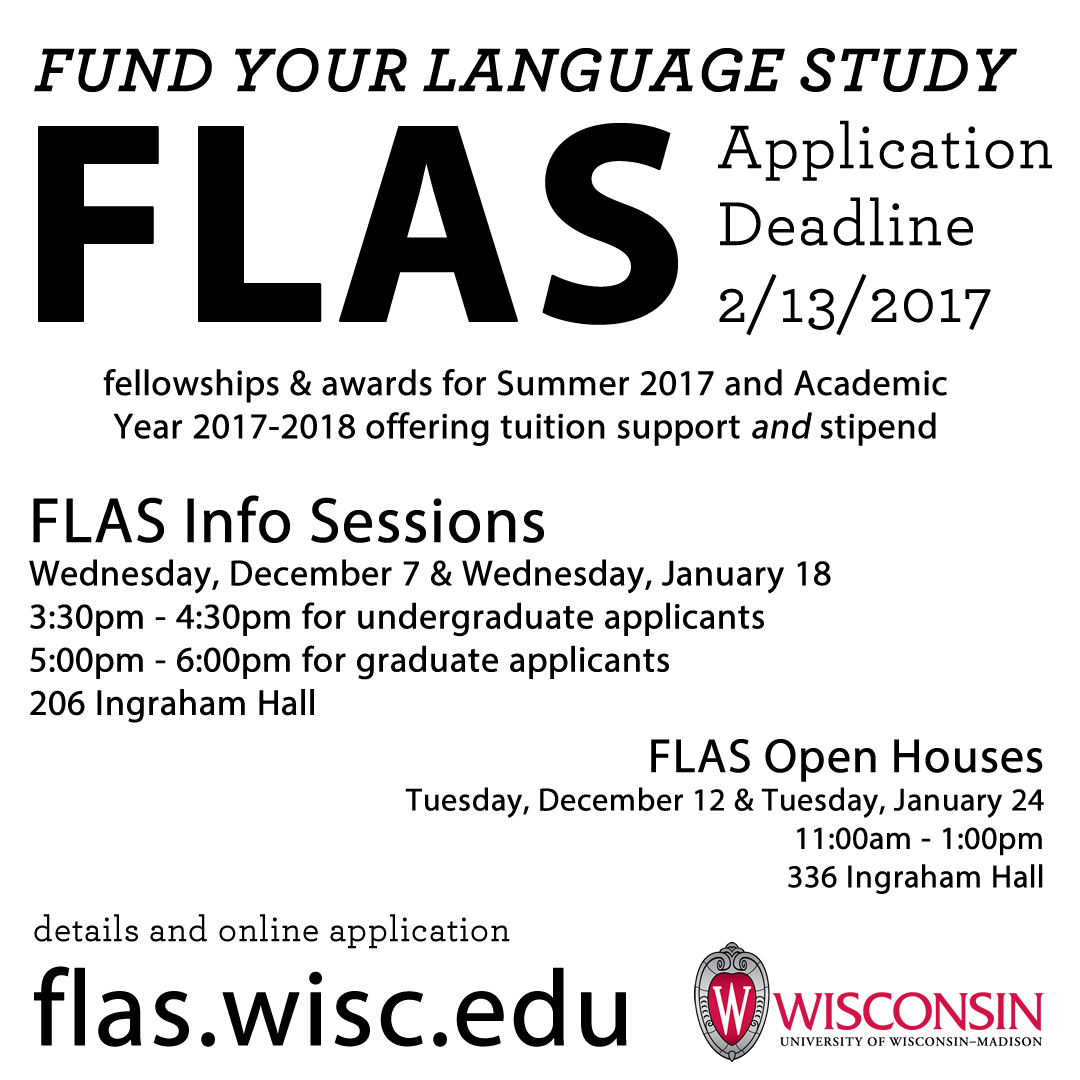 FLAS info sessions
