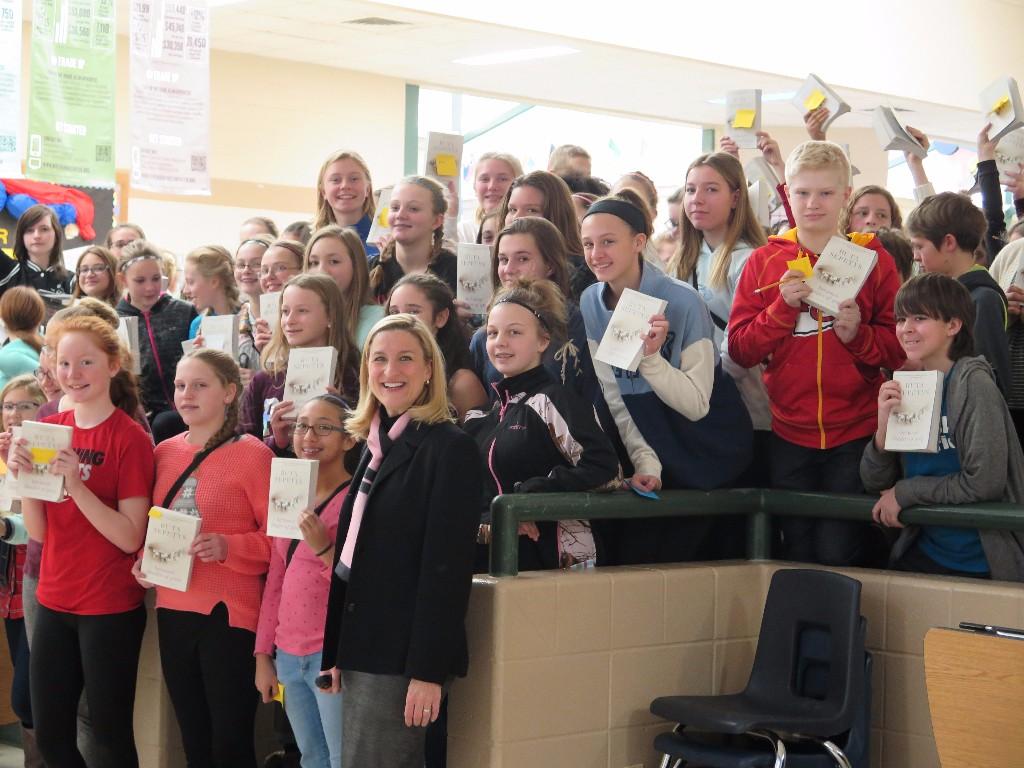 Ruta Sepetys at Patrick Marsh Middle School