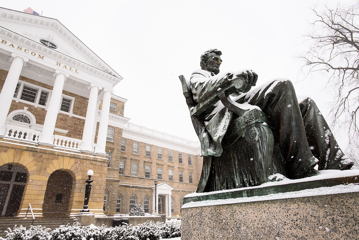 Lincoln statue and Bascom Hall
