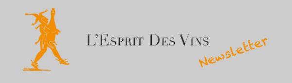 Inscription à la newsletter de L'Esprit des Vins !