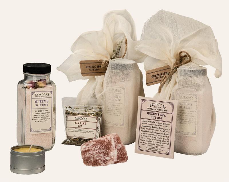 Salt scrub gift bag