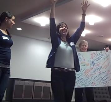 Liz Buchanan, Carolyn Lewenberg and Ellen Donaldson