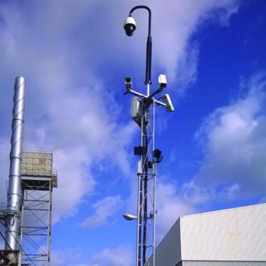 Metal refinery CCTV installation