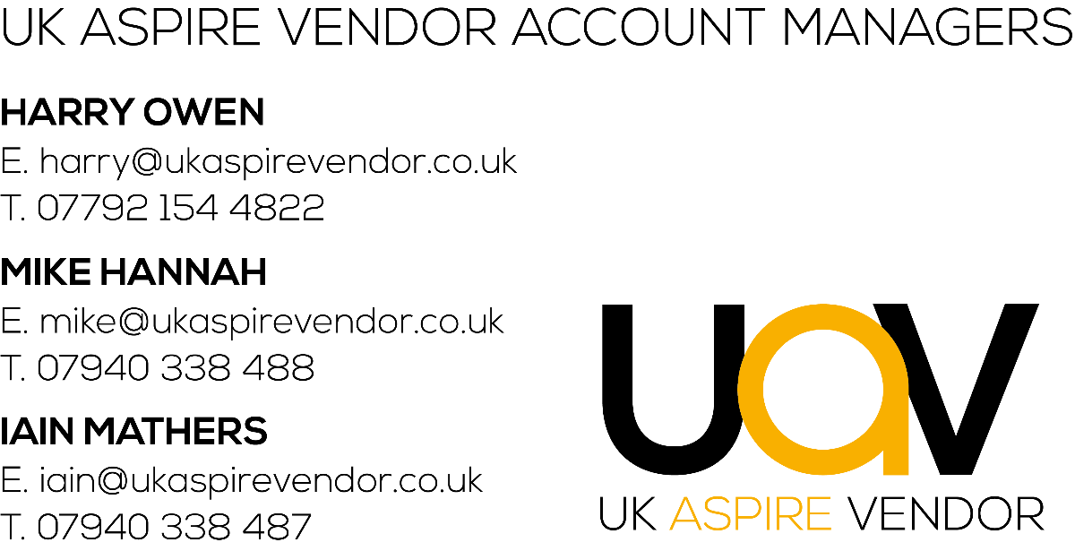 UK Aspire Vendor Wholesale Account Managers