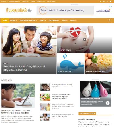 Parenthub website screenshot