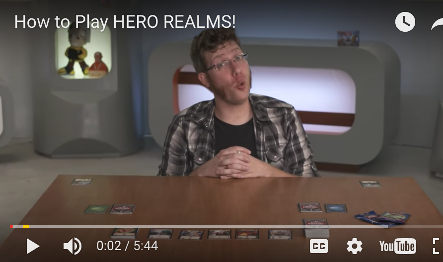Geek and Sundry Hero Realms How to Play Video
