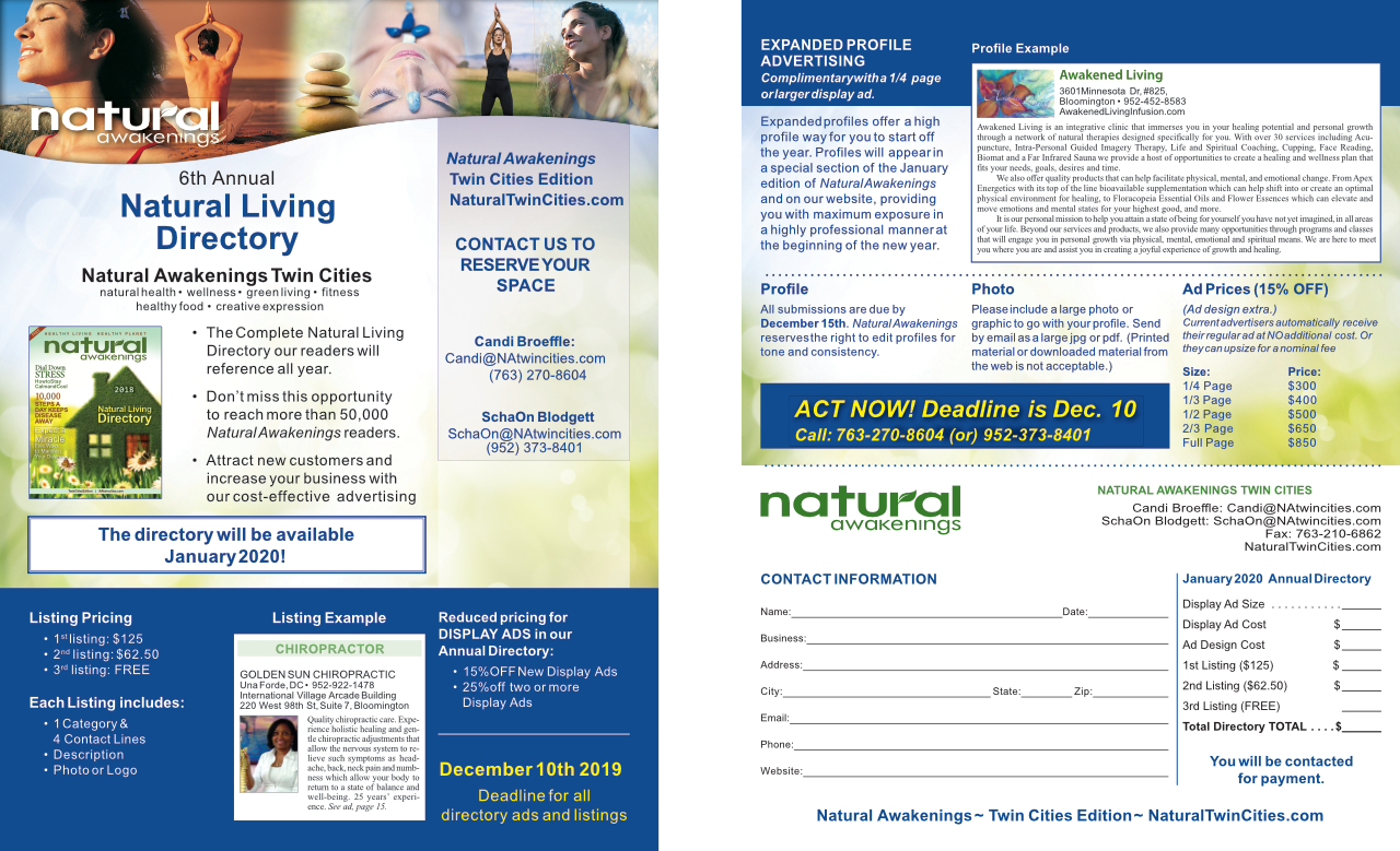 Click for PDF of the Directory Ad Info