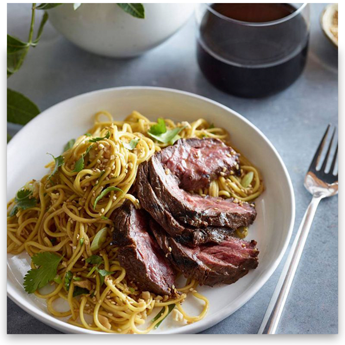 Grilled Steak Noodles