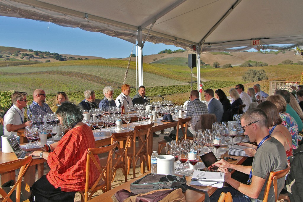 The MWs attended a tasting of Rhône-style wines from Santa Barbara County at Stolpman Vineyards in the Ballard Canyon AVA