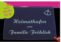 """Dreckstückchen """"Heimathafen"""" mit individuellem Namen"""