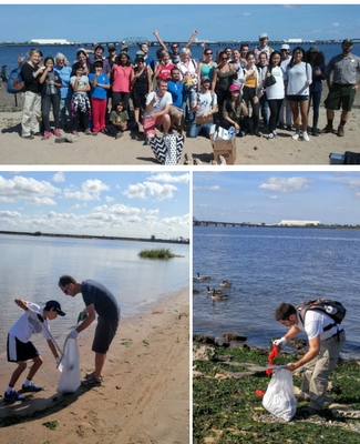 International Coastal Cleanup Day at North Channel Beach 2016