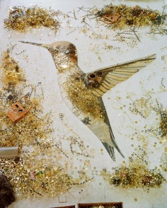 Hummingbird by Vik Muniz. Courtesy of the artist and Sikkema Jenkins & Co.