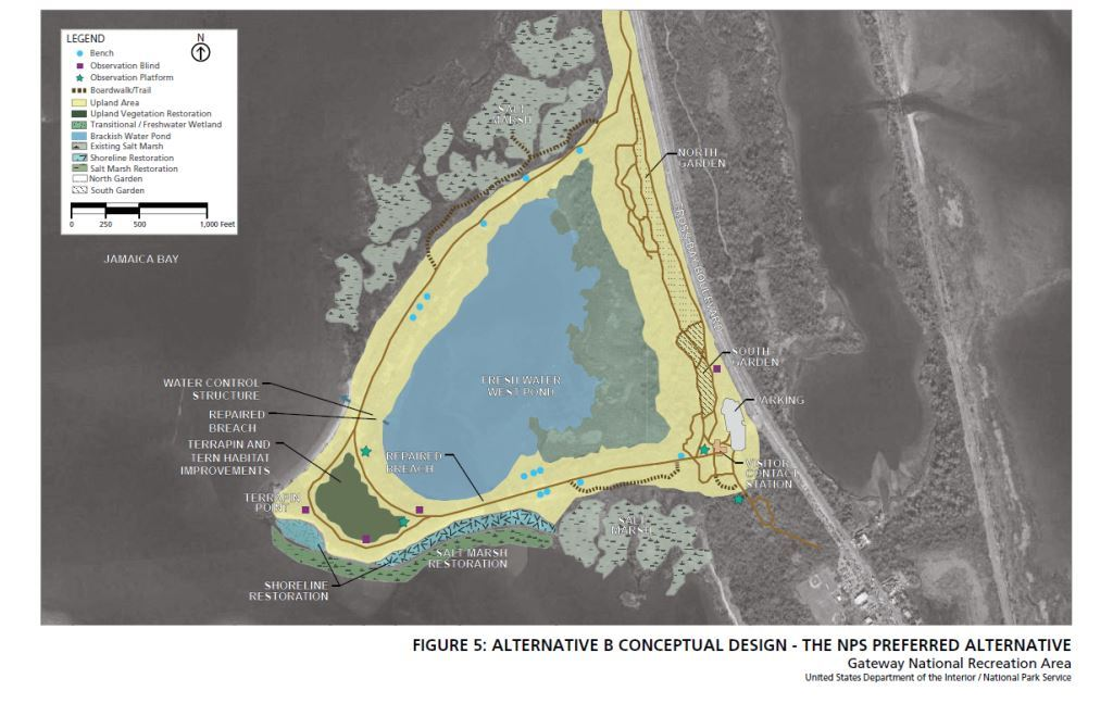 NPS Preferred Alternative B Conceptual Design