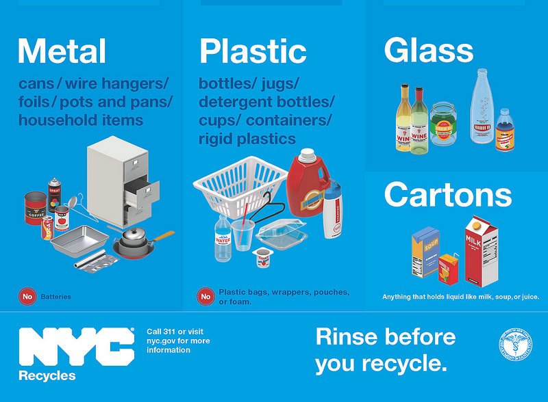 Curbside Recycling now accepts all hard, rigid plastics