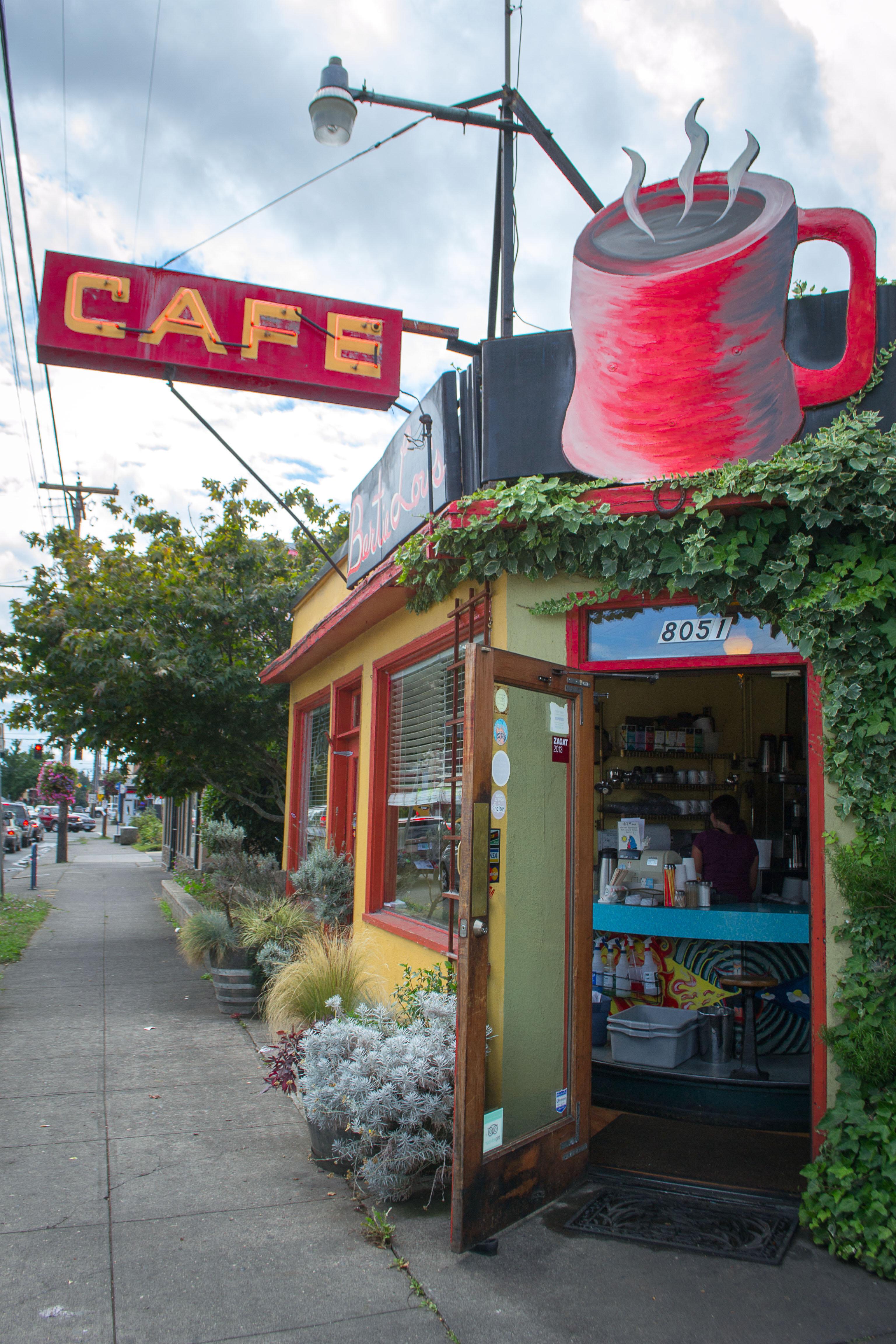 Image: A neighborhood cafe.