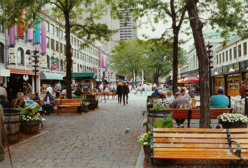 Image: Street in Boston.