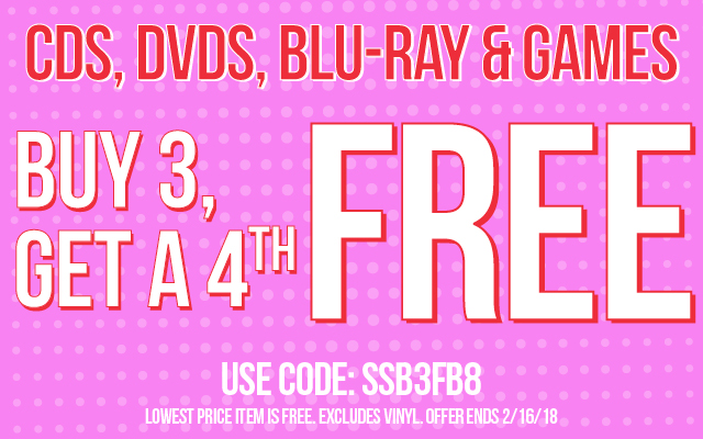 Buy 3, Get the 4th Free Code: SSB3FB8 Ends 2/16/18