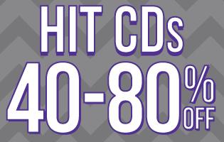 Hit CDs 40-80% Off