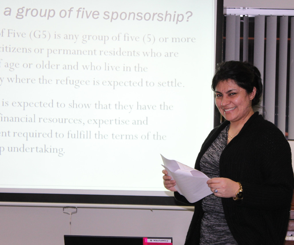 Roya Atmar, presenting an information session on Group of Five Sponsorship