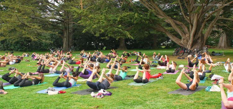 Yoga in Golden Gate Park