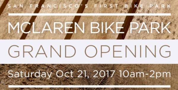 McLaren Bike Park Grand Opening