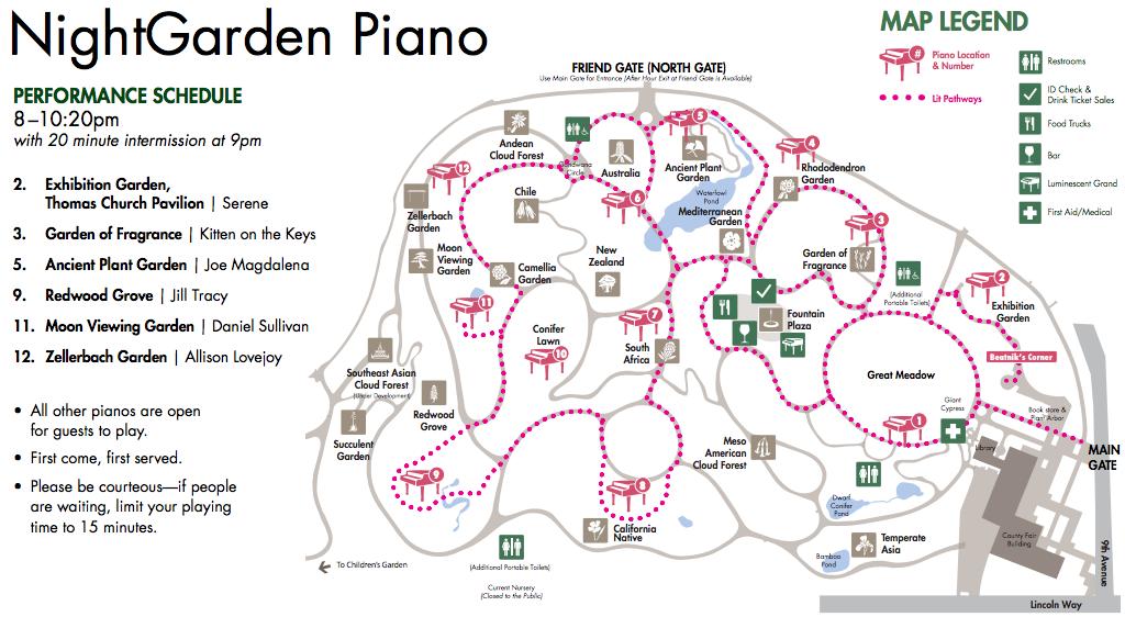 NightGarden Piano Map
