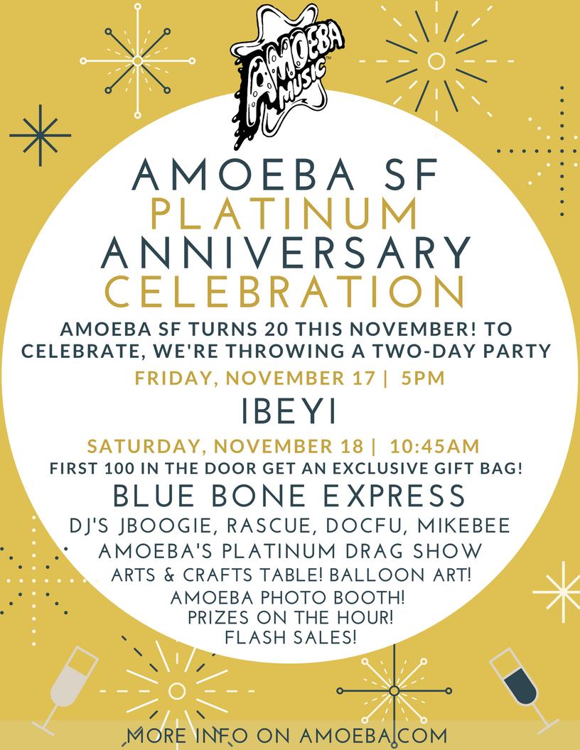 Amoeba SF Platinum Anniversary Celebration