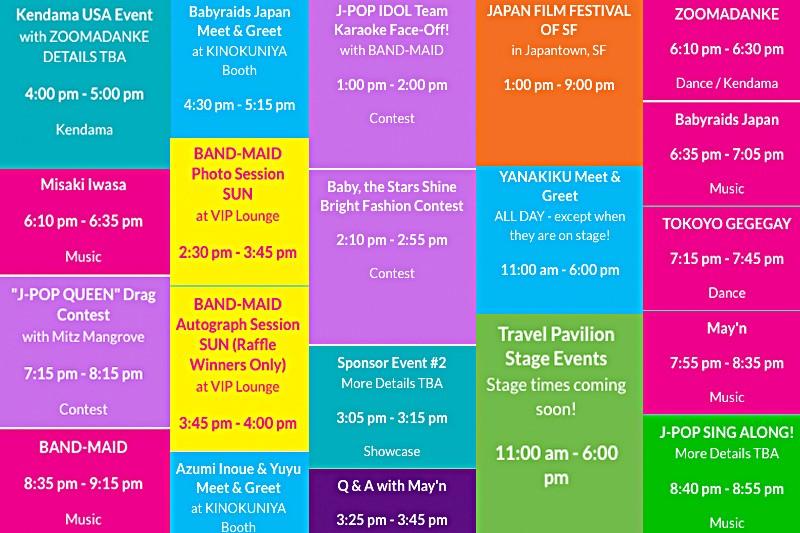 J-POP Summit Schedule