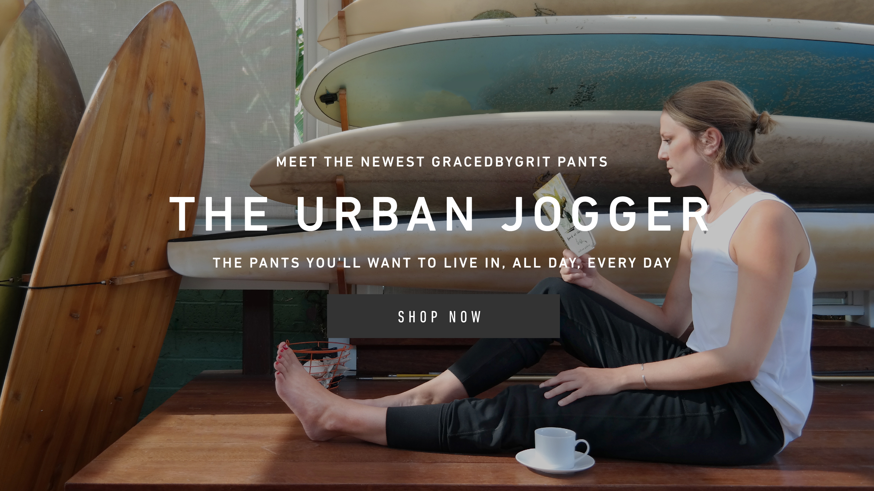 Meet the newest GRACEDBYGRIT pants: The Urban Jogger
