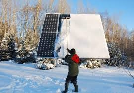 Sweeping snow from solar modules