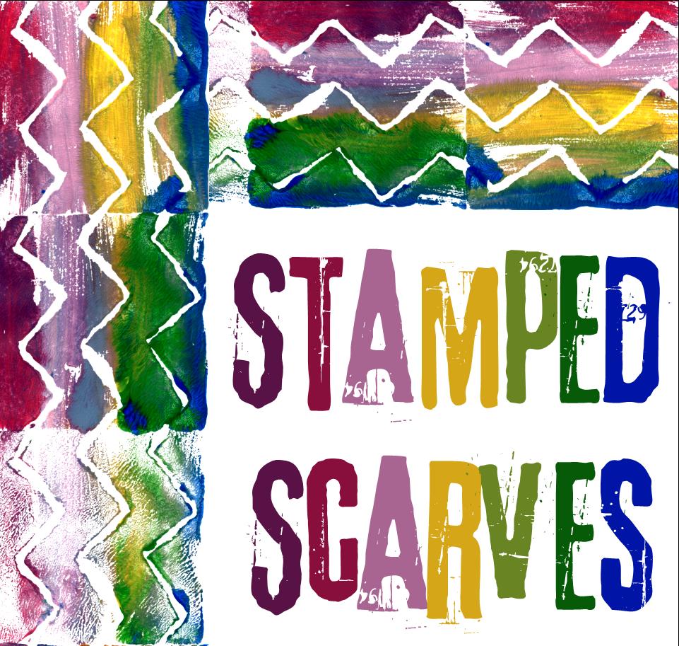Stamped Scarves