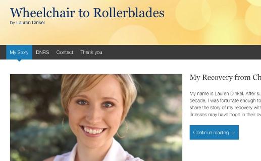 Lauren Dinkel:  From Wheelchair to Rollerblades