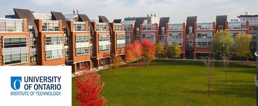UOIT logo and campus photo