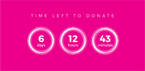 Time left to donate