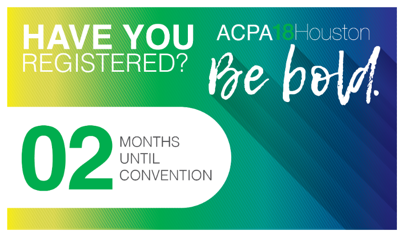 ACPA18Houston March 11-14. Be Bold.
