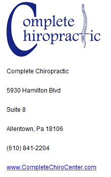 Complete Chiropractic 5930 Hamilton Blvd Suite 8 Allentown, Pa 18106