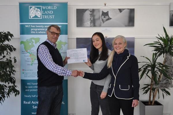 John Burton, Arabella Woo and Wendy Woo Lake © World Land Trust